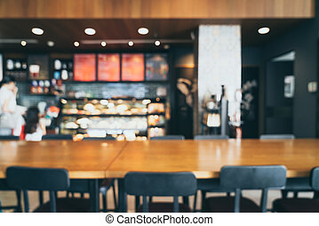 abstract blur and defocused in coffee shop cafe restaurant