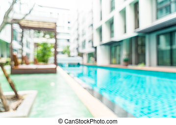 abstract blur and defocused swimming pool in hotel resort