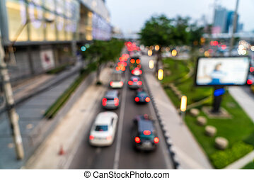 abstract blur and defocused traffic jam in the city