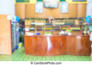 Abstract Blur Background of Cashier Counter