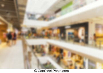 abstract blur background of department store sale season