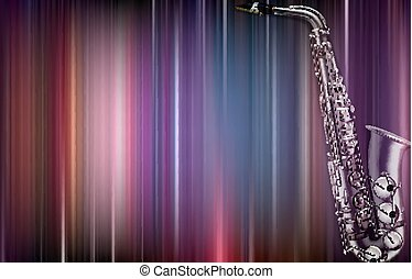 abstract blur background with saxophone