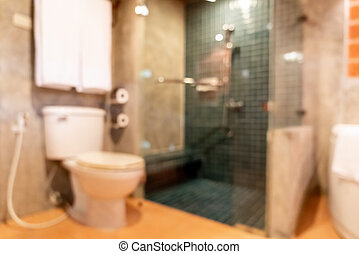 Abstract blur bathroom and toilet interior