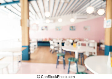 abstract blur cafe restaurant