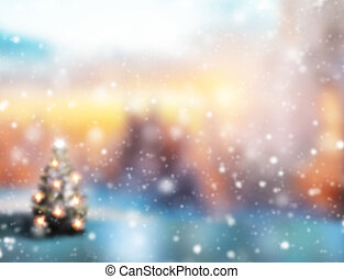 Abstract blur Christmas background
