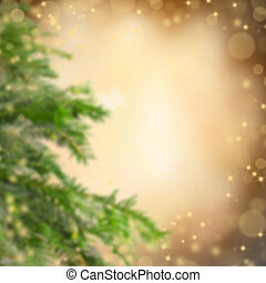 Abstract blur Christmas background with fir tree