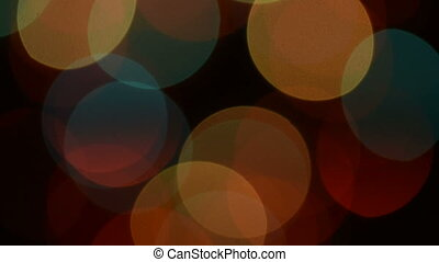 Abstract blur christmas lights in vibrant color