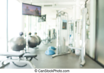 Abstract blur fitness and gym