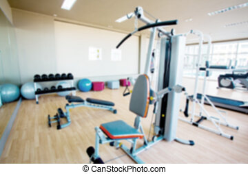 Abstract blur fitness gym backgroun