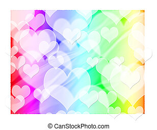 Abstract blur heart background
