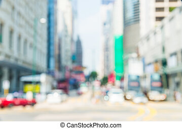 Abstract blur hong kong city background