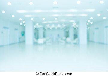 Abstract blur hospital and clinic interior