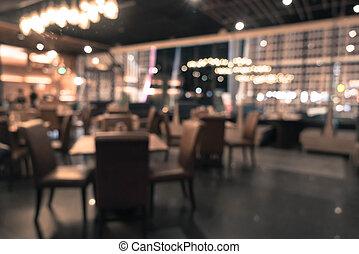 abstract blur in restaurant