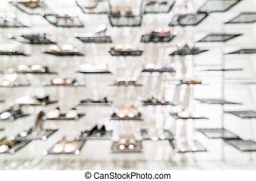 abstract blur in shoes shop