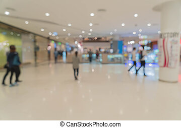 abstract blur in shopping mall