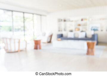 Blur living room background
