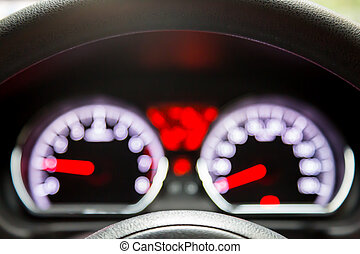 Abstract blur of speed meter