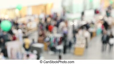 Abstract blur people shopping in department store, urban...