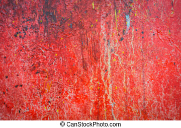 Abstract blur red oil brush strokes .