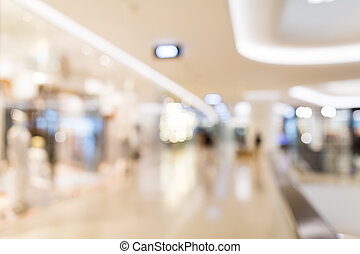 Abstract blur shopping mall and retail store interior for background