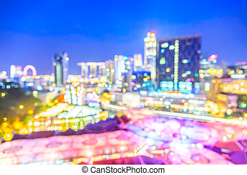 Abstract blur singapore city background
