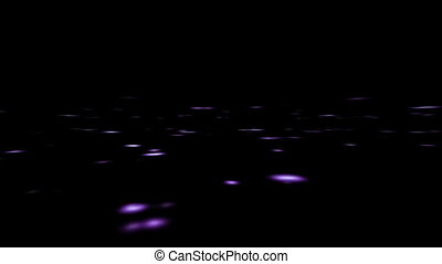 Abstract blur spots are moving on black background