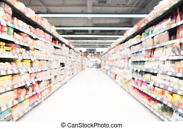 Abstract blur supermarket