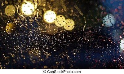 abstract blur traffic lighting