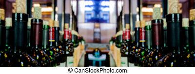abstract blur vine bottle