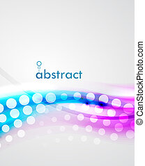 Abstract blur wave vector background - Blur violet and blue...