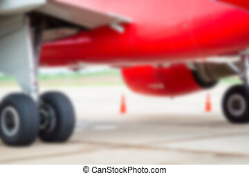 Abstract blur Wheel of airplane