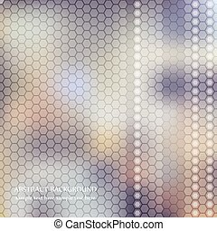 abstract blurred background with honeycombs