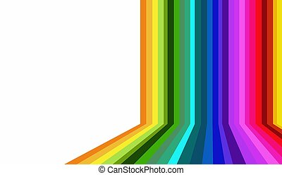 abstract blurred background with rainbow