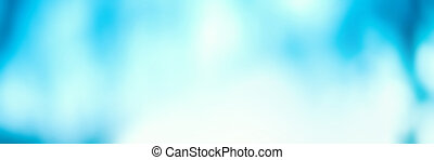 Abstract Blurred blue city lights background scene with soft bokeh
