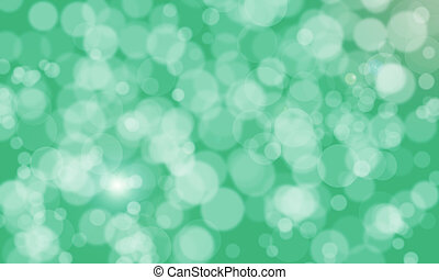 abstract blurred bokeh green color background with light