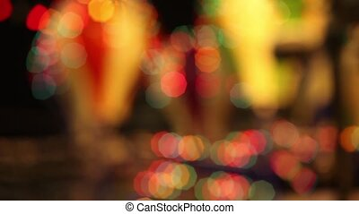 Abstract Blurred Bokeh Holiday Background. Loop.