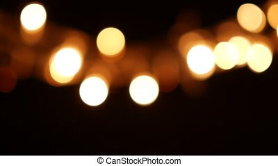Abstract Blurred Christmas Lights Bokeh Background. 4K...