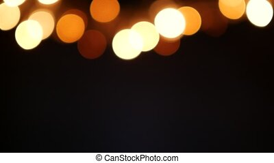 Abstract Blurred Christmas Lights Bokeh Background. 4K footage