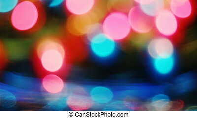 Abstract blurred Christmas lights bokeh background
