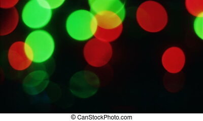 Abstract blurred Christmas lights bokeh background. Blinking...
