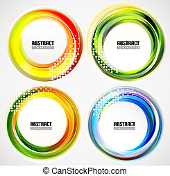 Abstract blurred circle banners / templates