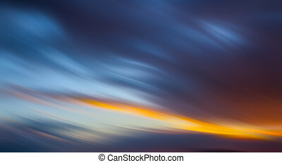 Abstract blurred cloudy sky