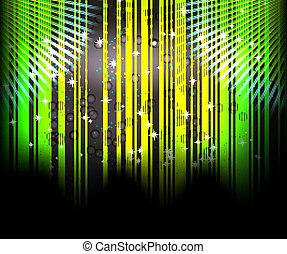 Abstract blurred glowing background with sparks.