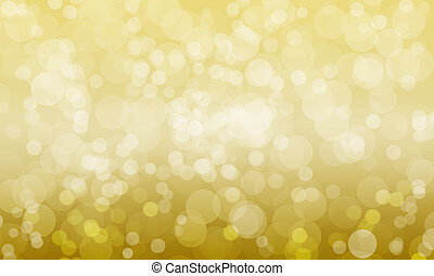 abstract blurred gold color background with light bokeh,