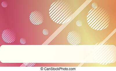 Abstract Blurred Gradient Background with Line, Circle. For Bright Website Banner, Invitation Card, Scree Wallpaper. Vector Illustration.