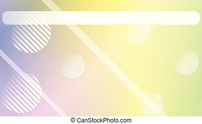 Abstract Blurred Gradient Background with Line, Circle. With Light. For Bright Website Banner, Invitation Card, Scree Wallpaper. Vector Illustration