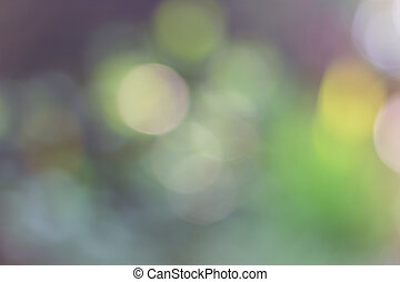 Abstract Blurred green light bokeh background