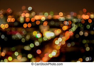 Abstract Blurred Light and bokeh Background, defocus