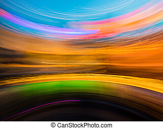 Abstract blurred light background in the night