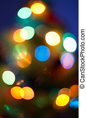 Abstract blurred light with dark blue background, Blur bokeh